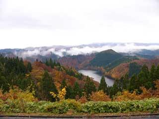 大平湖の紅葉