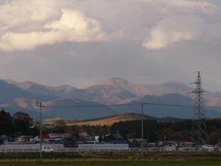 白神山地の冠雪:失敗…