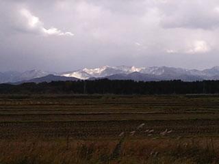 白神山地の冠雪